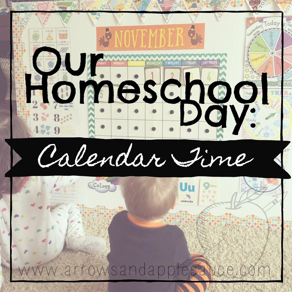 Our Homeschool Day: Calendar Time